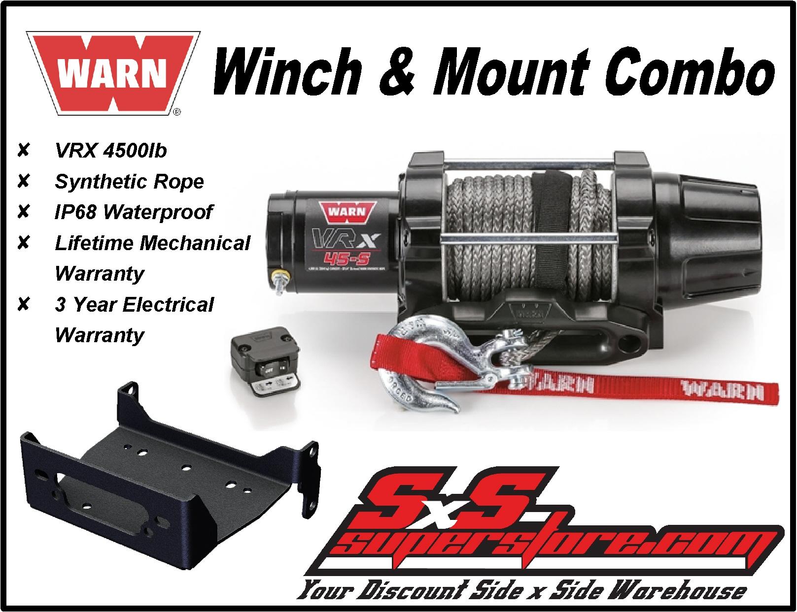 UTV Winch Mount fits 2011-2015 John Deere Gator XUV 625i 855D 825i